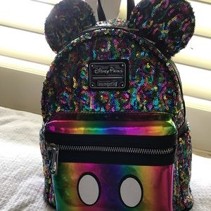 Disney Loungefly backpack rainbow colors